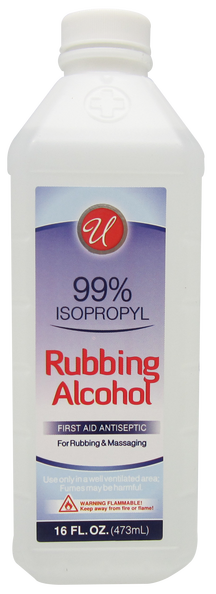 99% Isopropyl Rubbing Alcohol, 16 fl oz.