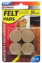 "Felt Pads Heavy Duty Self-Adhesive, 1 1/8"", 16 pcs."