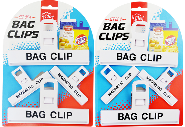 Bag Clips Set, 4-ct.