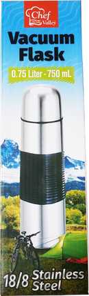 18/8 Stainless Steel Vacuum Flask, 0.75 Liter