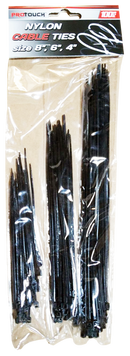 "Nylon Cable Ties, Assorted in 8"", 6"", 4"", 100 ct."