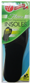 Fleece Odor-Destroying Insoles, Unisex, Woman 3 - Man 11, 1- Pair