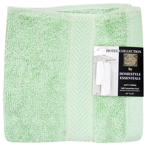 "Hotel Collection by Homestyle Essentials 13"" x 13"" Wash Cloth, Green Color"