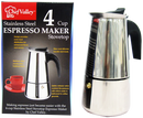 Stainless Steel Espresso Maker, 4-Cup