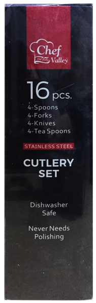 Stainless Steel Cutlery Flatware Set, 16-ct.
