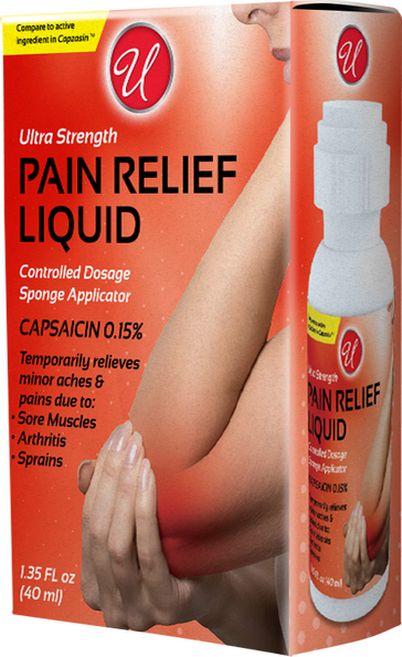 Ultra Strength Pain Relief Liquid, 1.35 fl oz