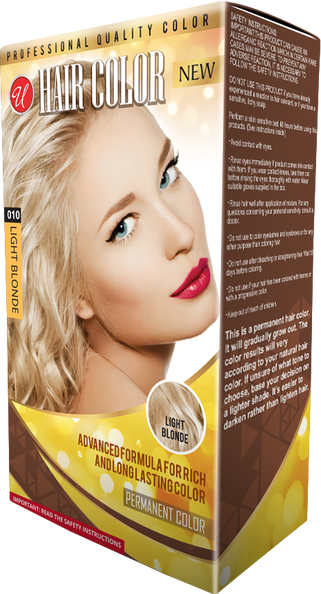 Light Blonde Permanent Hair Color / Hair Dye