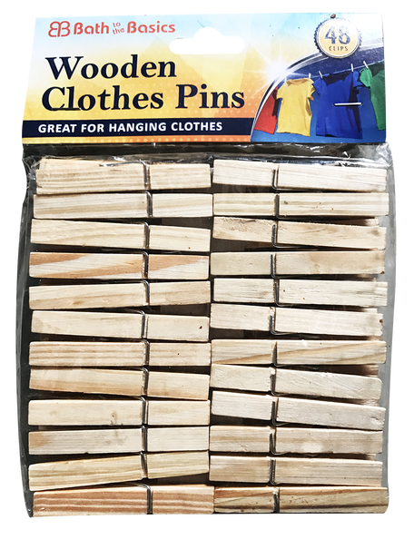 Wooden Clothes Pins, 48-ct.