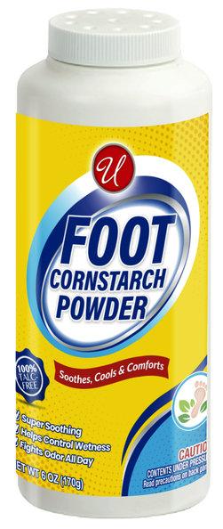 Foot Cornstarch Powder, 6 oz.