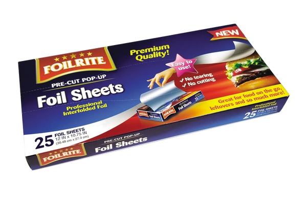 Foilrite Pre-Cut Pop-Up Foil Sheets, 25 ct.