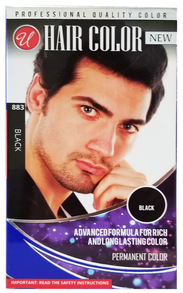Black Permanent Hair Color / Hair Dye for Men
