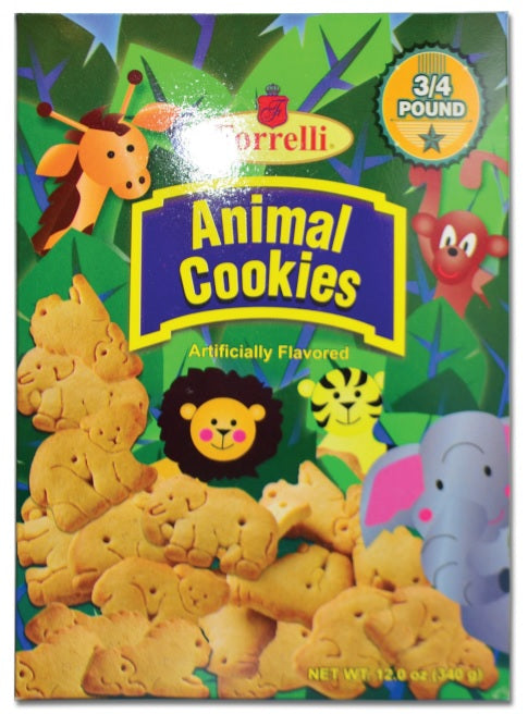 Forrelli Animal Cookies, 12oz (340g)