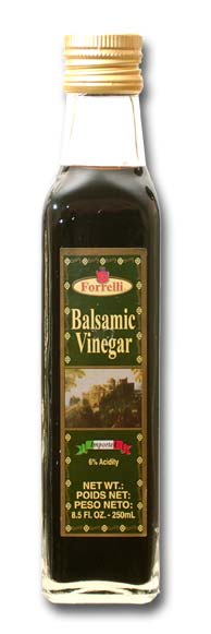 Forrelli Balsamic Vinegar, Product of Spain, 6% Acidity, 8.5 Fl. Oz. (250ml)