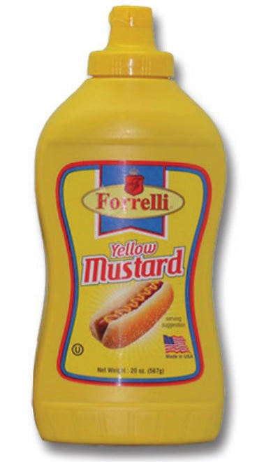 Forrelli Yellow Mustard, Made in USA, 20oz.
