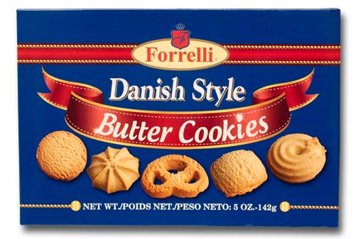 Forrelli Danish Style Butter Cookies, 5.0oz