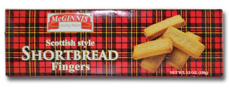 McGinnis Scottish Style Shortbread Fingers, Made in India, 5.3oz
