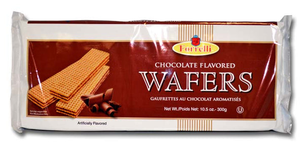 Forrelli Chocolate Flavored Wafers, 10.5 oz