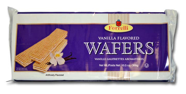 Forrelli Vanilla Flavored Wafers, 10.5 oz
