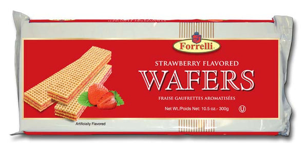 Forrelli Strawberry Flavored Wafers, 10.5 oz