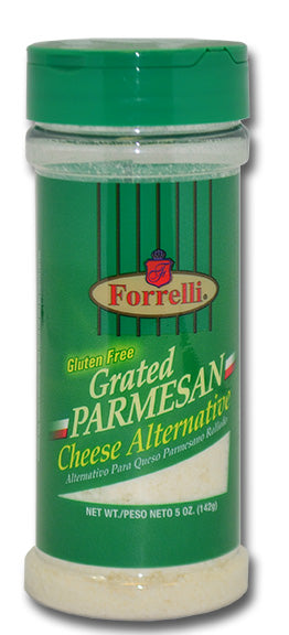 Forrelli Gluten Free Grated Parmesan Cheese Alternative, 5 oz.