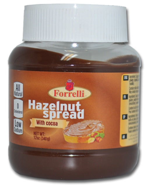 Forrelli Hazlenut Spread with Cocoa, 12 oz.