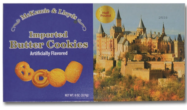 McKenzie & Lloyds Imported Butter Cookies, Half Pound, 8oz (227g)
