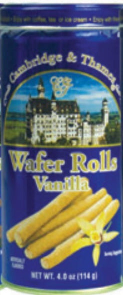 Cambridge & Thames Wafer Rolls, Vanilla Flavor, 4.0 oz.