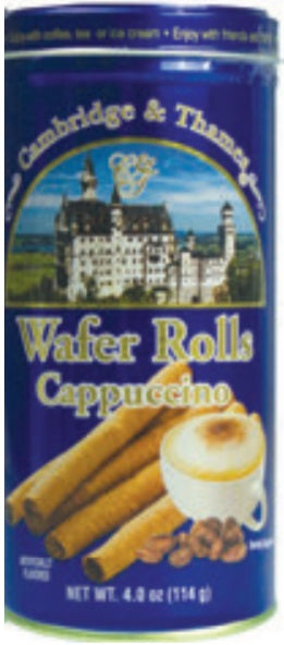 Cambridge & Thames Wafer Rolls, Cappuccino Flavor, 4.0 oz.