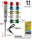 Auto Car Assorted Fuses and Tester, 10-ct.