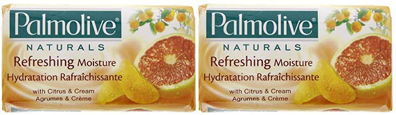 Palmolive Naturals Refreshing Moisture Citrus & Cream, 4 ct. 360g (Pack of 2)