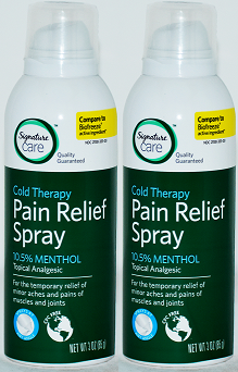 Signature Care Cold Therapy Pain Relief Spray, 3 oz (EXP 4/20) (Pack of 2)