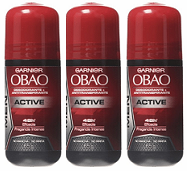 Garnier Obao for Women Active Deodorant, 2.3 oz. (Pack of 3)