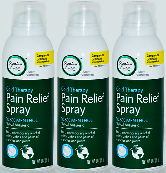 Signature Care Cold Therapy Pain Relief Spray, 3 oz (EXP 4/20) (Pack of 3)