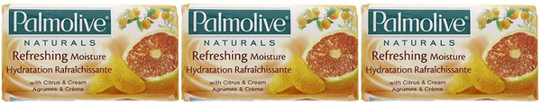 Palmolive Naturals Refreshing Moisture Citrus & Cream, 4 ct. 360g (Pack of 3)