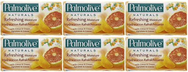 Palmolive Naturals Refreshing Moisture Citrus & Cream, 4 ct. 360g (Pack of 6)