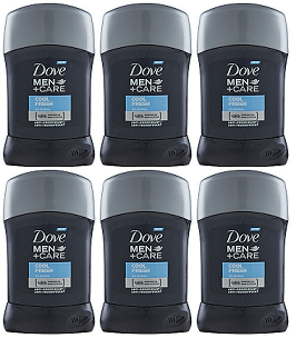 Dove Men+Care Cool Fresh Antiperspirant Deodorant, 50 ml (Pack of 6)