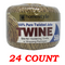 100% Pure Twisted Jute Twine, 560 ft. 24-ct.