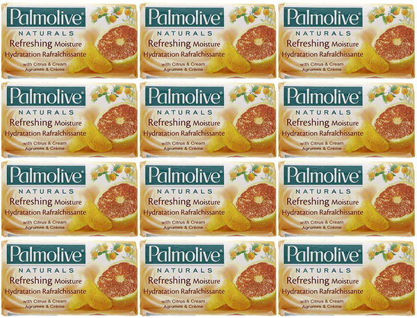 Palmolive Naturals Refreshing Moisture Citrus & Cream, 4 ct. 360g (Pack of 12)