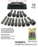 Assorted Power Nut Driver Bit Set, 14-ct.