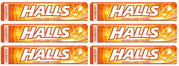Halls Sabor A Limon, Pack of 9 (Pack of 6)