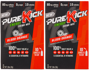 Pure Kick Blood Orange Energy Drink Mix, 0.63 oz (Pack of 2)