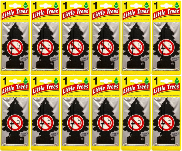Little Trees Crisp 'N Cool Anti-Smoking Scent Air Freshener, 1 ct. (Pack of 12)