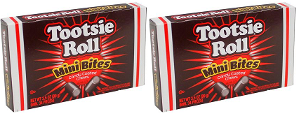 Tootsie Roll Mini Bites Chews, 3.5 oz (Pack of 2)