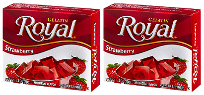 Royal Strawberry Gelatin, 1.41 oz (Pack of 2)