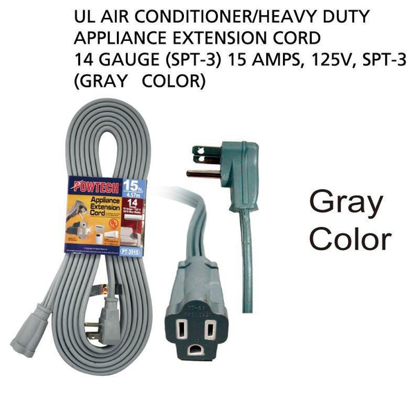 Air Conditioner Appliance Extension Cord 14 Gauge, 12 ft.