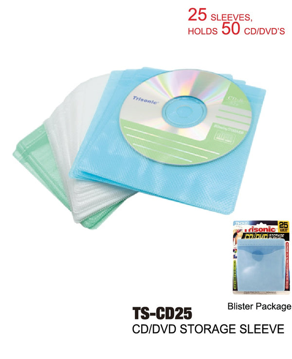 CD/DVD Storage Sleeves, 25-ct.