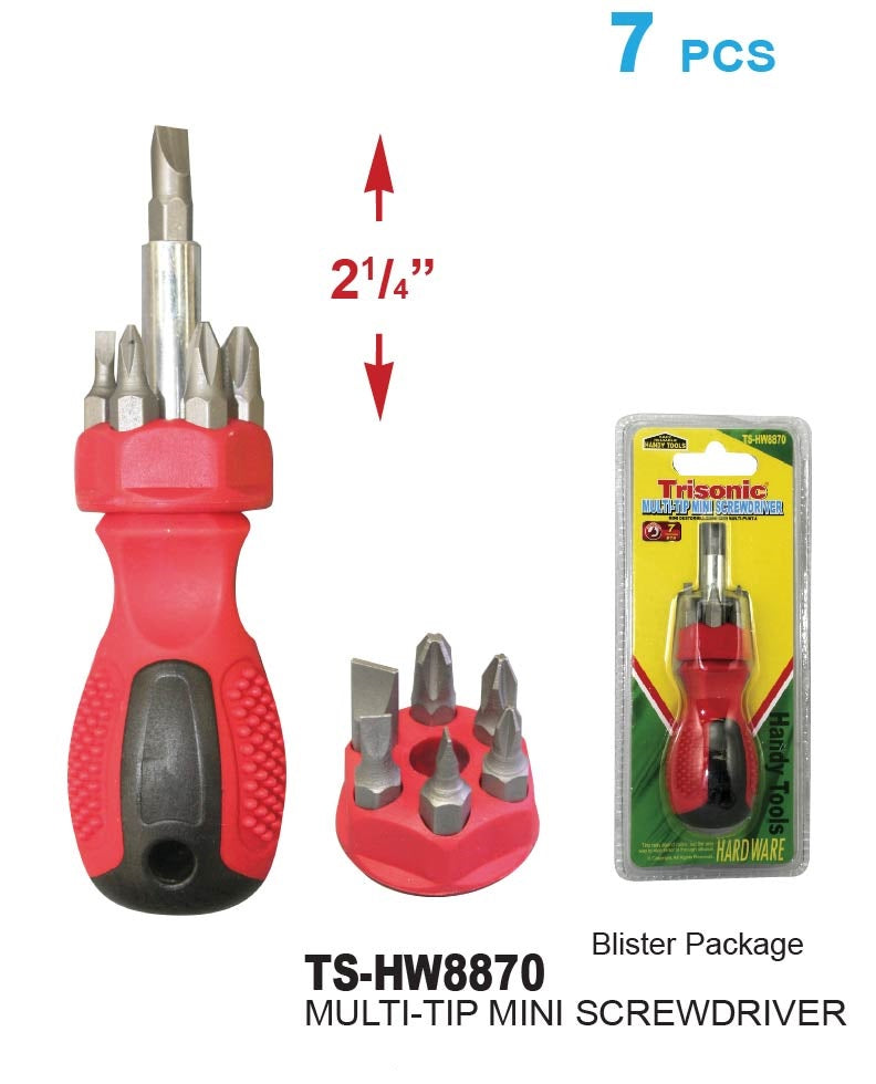 Multi-Tip Mini Screwdriver, 7-ct.