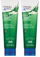 CVS Beauty 360 Cool & Fresh Lotion Refreshing Aloe Vera 3oz. (Pack of 2)