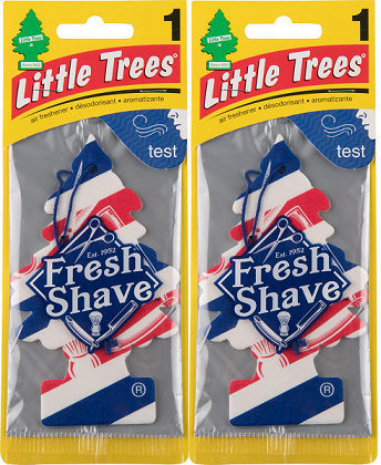 Little Trees Fresh Shave Air Freshener, 1 ct. (Pack of 2)