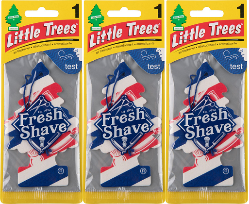 Little Trees Fresh Shave Air Freshener, 1 ct. (Pack of 3)